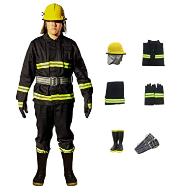408aa0bf4541 Image Unavailable. Image not available for. Color  02-Type Fire Safety  Guard Suit Fireproof Clothing Firefighter Protective ...