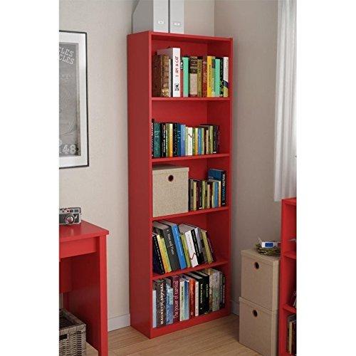 Ameriwood 5 Shelf Adjustable Bookcase, Set of 2, Black
