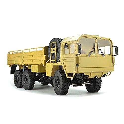 2.4GHZ rc軍隊トラック防水服1/10、少年、6WDリモートコントロールのためのrc登る車は、サイズをトラックに積む:73x22x25cm