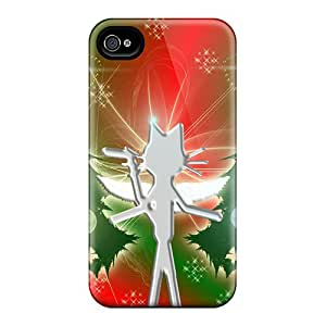 New Shockproof Protection Case Cover For Iphone 4/4s/ Cat Kittycat Christmas Angel Case Cover