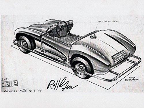 Disneyland Autopia Car Drawing By Bob Gurr At Amazon S Entertainment