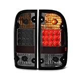 For 2001-2004 Toyota Tacoma Premium LED Chrome Smoke Tail Light Lamp Replacement Pair Driver & Passenger Side
