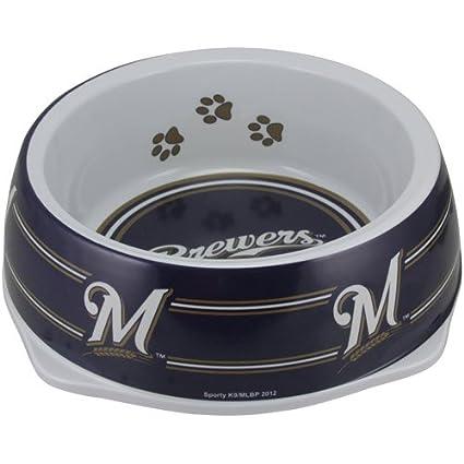 8ab9ce59e Pet Supplies   Sporty K9 MLB Milwaukee Brewers Pet Bowl