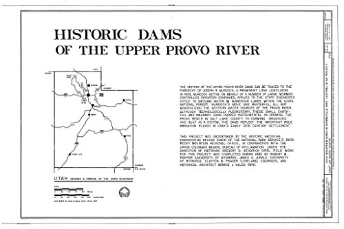 - Historic Pictoric Blueprint Diagram HAER Utah,22-KAM.V,1- (Sheet 1 of 2) - High Mountain Dams in Bonneville Unit, Central Utah Project, Kamas, Summit County, UT 12in x 08in