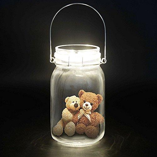 Solar Jar,Homeweeks Fairy Light Romantic Glass Storage Solar Mason Jar, Solar Powered lights and Garden Decor Solar Light for Party Decorative lights by Homeweeks