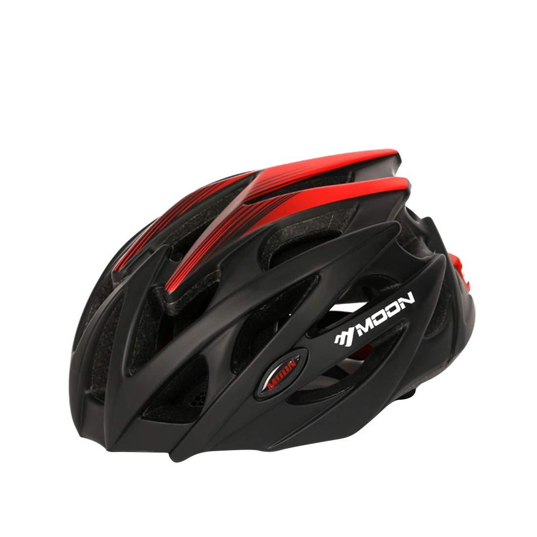 万全区孔家庄镇美衣社女装店 自転車用ヘルメット、屋外用サイクリング愛好家に最適な自転車用安全ヘルメット。 (色 : Black red, サイズ : L) Large Black red B07RKGQKRP