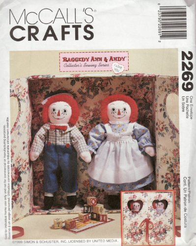 - McCall's 2269 Raggedy Ann & Andy **Sewing Pattern, 1940's Vintage 20