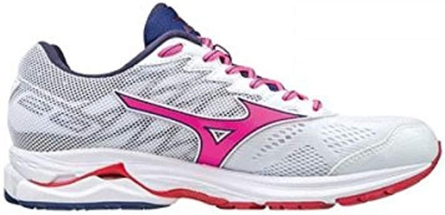 MIZUNO WAVE RIDER 20 MUJER BLANCO ROSA J1GD170366: Amazon.es ...
