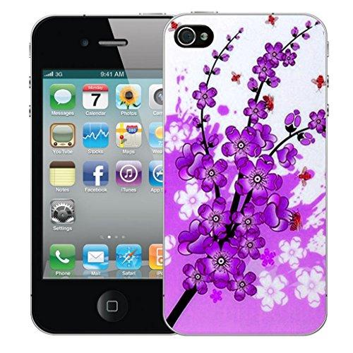iphone 5c Dur Coque couverture Pare-chocs Case Cover - pourpre floral bee conception par Mobile Case Mate