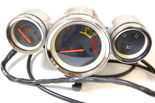 47cc 49cc Pocket Bike X8 R6 Speedometer Light Gas Gauge Speedo 3-Gauge SD10