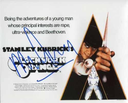 Malcolm McDowell Signed / Autographed A Clockwork Orange 8x10 glossy Photo portraying Alex. Includes Fanexpo Fanexpo Certificate of Authenticity and Proof. Entertainment Autograph Original.
