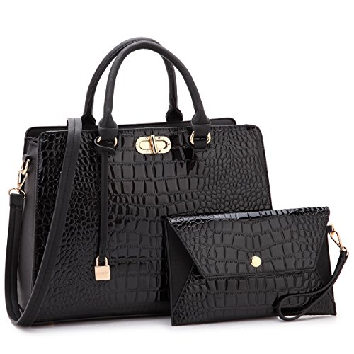 MKP Collection Beautiful and Designer Shoulder handbag with Wristlet,Satchel/purse for woman.Holiday gift for woman. Four Season carry handbag(107581) Black by Maya Karis Purse