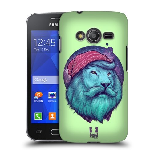 Head Case Designs Dashing Lion Fauna Hipsters Protective Snap-on Hard Back Case Cover for Samsung Galaxy Ace NXT G313HDual