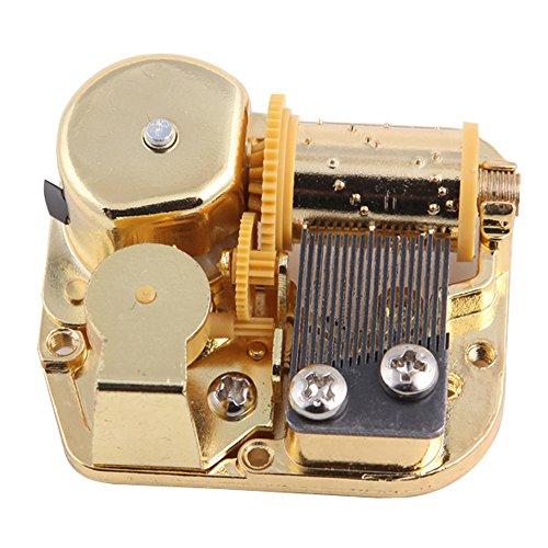 Helen Zora 18 Note Windup Gold Plating Clockwork Mechanism DIY Music Box Movement (Happy Birthday)