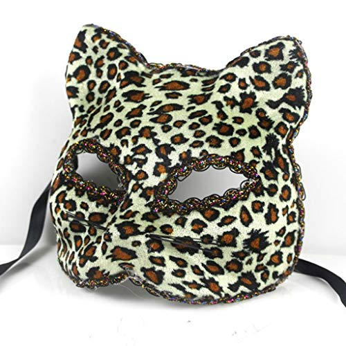 Liying mask- Halloween Mask Beautiful Broadway Cat Face Painted Mask (Color : Yellow A, Size : One -