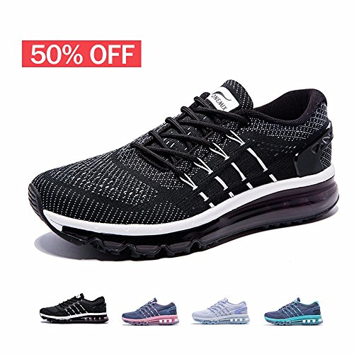 nning Shoes,Sloping Tongue Sneakers,Black/White,Size 8 (Womens Prophecy Sport Shoe)