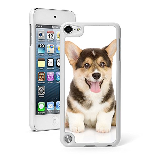 For Apple iPod Touch 5th / 6th Generation Hard Back Case Cover Corgi Puppy Dog (White) (Dog Ipod Apple)