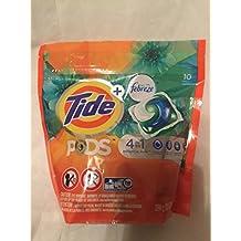 Tide Pods Plus Febreze Laundry Detergent Packs, Botanical Rain Scent, 10-Count Bag
