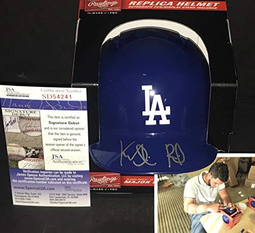 (Keibert Ruiz Los Angeles Dodgers Autographed Signed Mini Baseball Helmet JSA WITNESS COA)