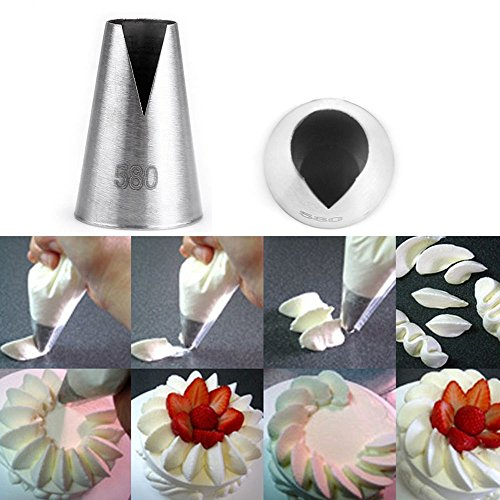 Money coming shop Popular 580# Flower Icing Piping Tips Nozzle Cake Cupcake Decorating Pastry Tool (Halloween Pumpkin Cupcakes Pictures)