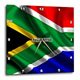 3dRose South Africa Flag - Wall Clock, 13 by 13-Inch (dpp_204514_2)