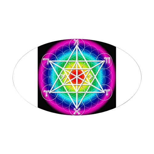 Angelic Star - CafePress - Star Tetrahedron Angelic Oval Sticker - Oval Bumper Sticker, Euro Oval Car Decal