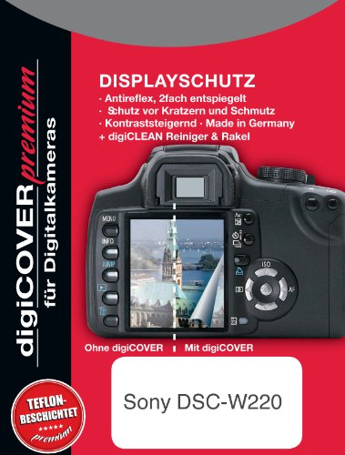 digiCOVER Premium LCD Screen Protection Film for Sony DSC-W220