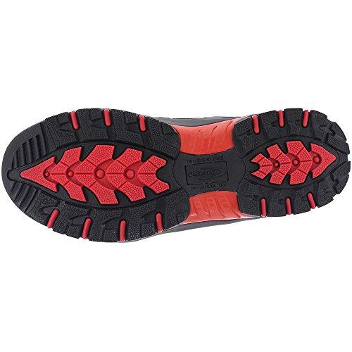 Red Leather Rubber Men's Work Steel Knapp Allowance Sport Black Toe Sneakers vqFURx