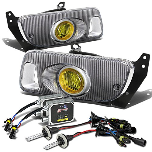 Fog Lights 8000k Hid (Honda Civic 2/3DR Bumper Fog Light+Switch+8,000K HID+Thick Ballast (Amber Lens) - 5th Generation EJ1/2 EG3 EH2/3 D15 D16)