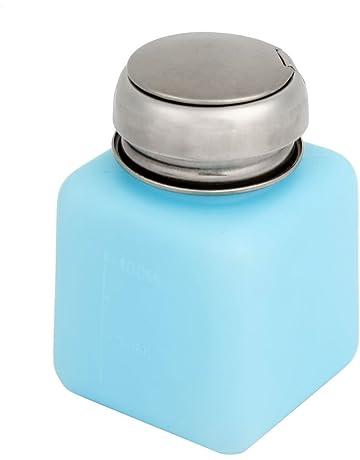 Tapa de Metal líquido envase de laboratorio botella de Alcohol 100 ml azul