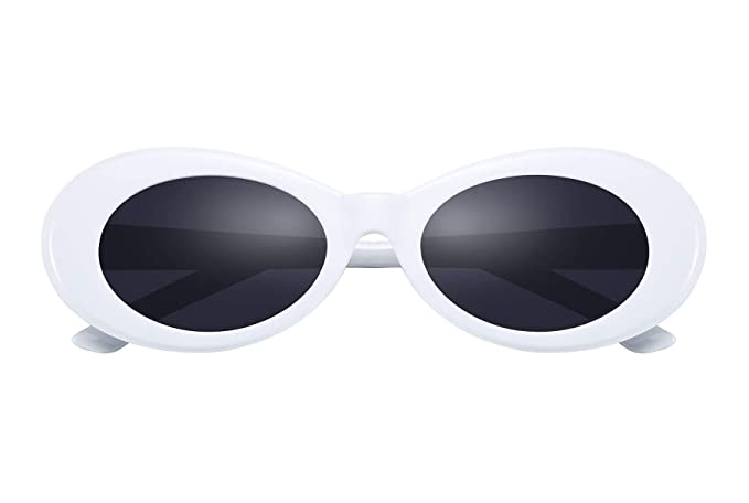 5e24bf702173a Amazon.com  FEISEDY Retro White Clout Goggles Kurt Cobain Sunglasses Revival  B2467  Clothing