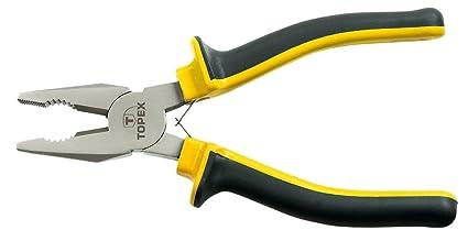 Topex 32D123 Alicate universal con muelle (180 mm)