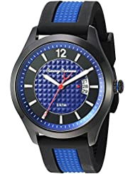 Tommy Bahama Mens Quartz Stainless Steel and Silicone Casual Watch, Color:Blue (Model: TB00029-02)