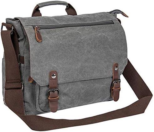Waterproof Waxed Canvas 15 Macbook pro 14 Laptop Messenger Bag Men Business Vintage shoulder bag Briefcase