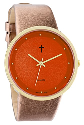 - Belief Women's | Gold- and Rose Gold-Tone Orange Face Watch with Cross | BF9658OR