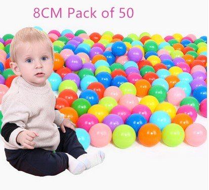 8cm Pack of 50 Phthalate Free BPA Free Crush Proof Plastic Ball, Pit Balls for Kids ,Ocea Ball,Ball Pit Balls Brajttt