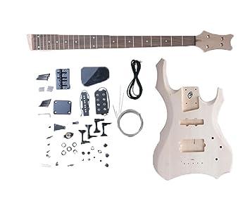 Kit de reparación de tilo Kobwa semi-acabado de la guitarra eléctrica Kit (color mansamente) con llavero es Kobwa: Amazon.es: Instrumentos musicales
