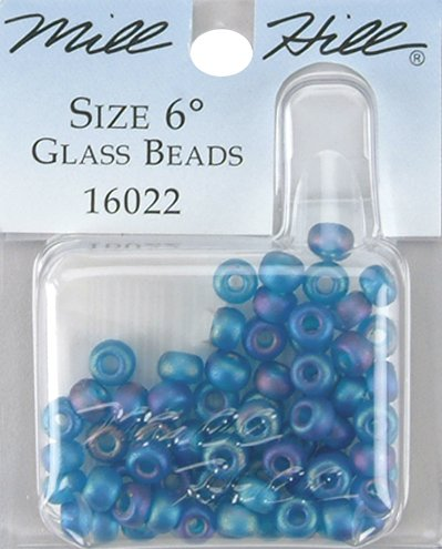 Hill Mill Glass Treasure (Mill Hill Glass Beads Size 6/0 4mm 5.2 Grams/Pkg-Midnight)