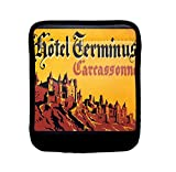 Hotel Germinus Carcassonne Old Poster Luggage Handle Wrap Finder