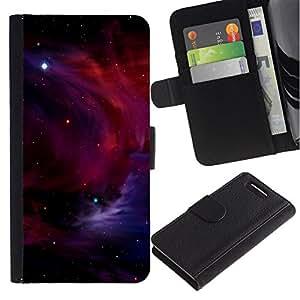 All Phone Most Case / Oferta Especial Cáscara Funda de cuero Monedero Cubierta de proteccion Caso / Wallet Case for Sony Xperia Z1 Compact D5503 // Space Planet Galaxy Stars 5