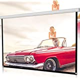 LtrottedJ 84inch HD Projector Screen 16:9 Home Cinema Theater Projection Portable Screen