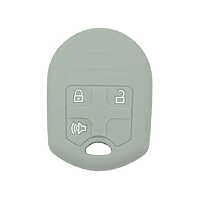 SEGADEN Silicone Cover Protector Case Skin Jacket fit for FORD 3 Button Remote Key Fob CV2709 Gray: Automotive
