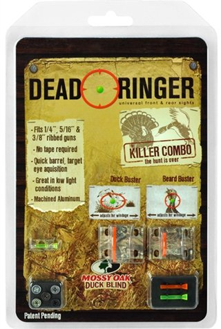 Dead Ringer Mossy Oak Killer Combo Shotgun Sight Kit | Superior Brightness | Windage and Elevation Adjustment