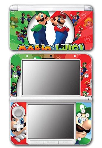 Mario and Luigi Bros Super Hero Golf Kart Smash Video Game Vinyl Decal Skin Sticker Cover for Original Nintendo 3DS XL System (Lite Bros Ds Mario)