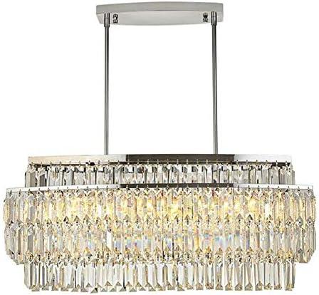 安全な クリスタルシャンデリアモデルルーム北欧寝室レストランクリスタルランプ 耐久性 (Body Color : L 60 W22 H35cm, Wattage : Warm White)