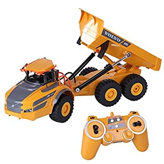 Double Eagle HMANE 1/20 2.4G 2WD RC Articulated Dump Truck Remote Control Construction Model Car Electronic Simulation Engineering Vehicle Toys for Kids Boys