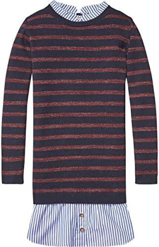 Scotch & Soda Mädchen Knitted Stripe Shirt Dress Kleid