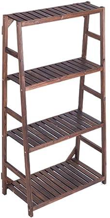 GFF Estante para macetas Moderno y Moderno Escalera de macetero de Madera de 3,4 Niveles