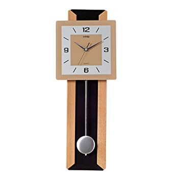 Tiendas mano creativo del reloj de pared del reloj de péndulo Silencio Parlor (Color : Blanco) : Amazon.es: Hogar