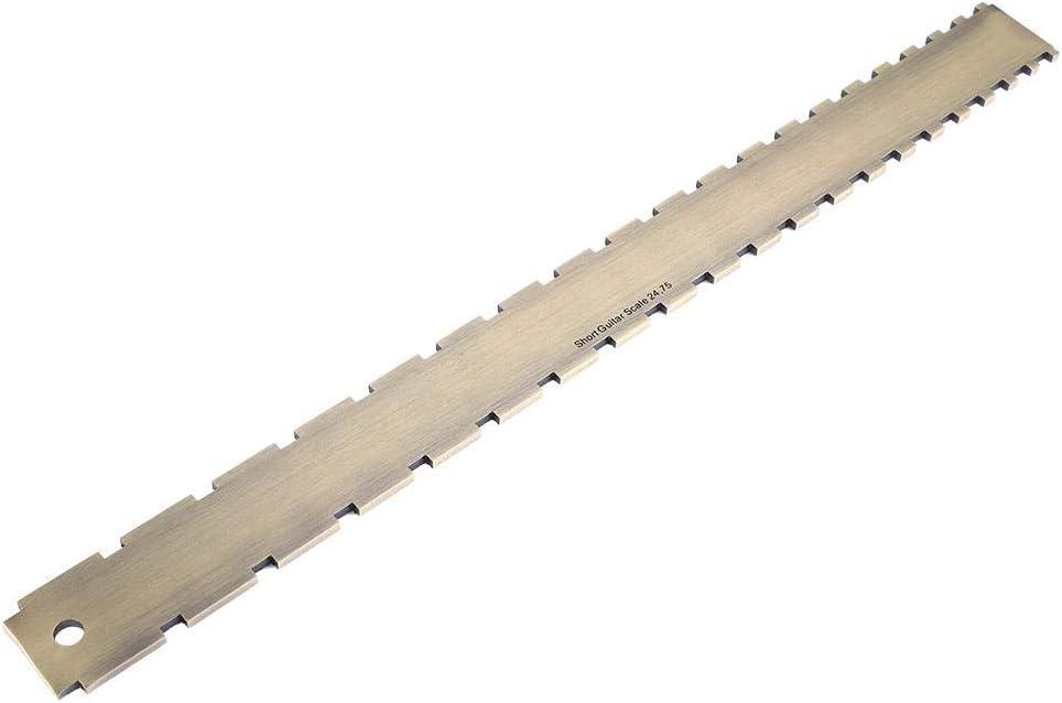 AMONIDA Nivelación del mástil de Guitarra, Conveniente para Usar Robusto 16.5 * 1.5 * 0.2 Pulgadas Fret Board Borde Recto, para Amantes de la Guitarra Guitarras Nivelación del mástil Guitarrista